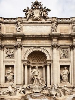 Fontana di Trevi Palazzo Poli (ROMA)
